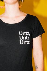 """StuBru - Zwarte """"UntzUntzUntz"""" Dames T-shirt"""